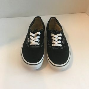 Vans black/white size kids 2.5